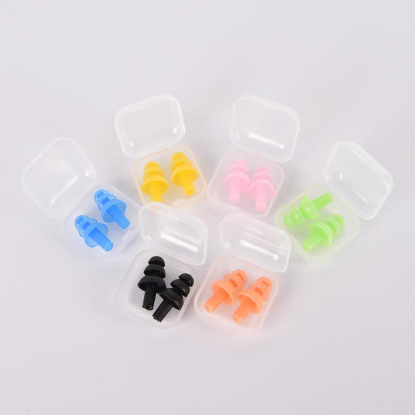 best selling Soft Silicone Swimming Ear Plugs Sound Noise Reduction Earplug With Retail Box for Swim Sleep Snoring Swimming Accessories
