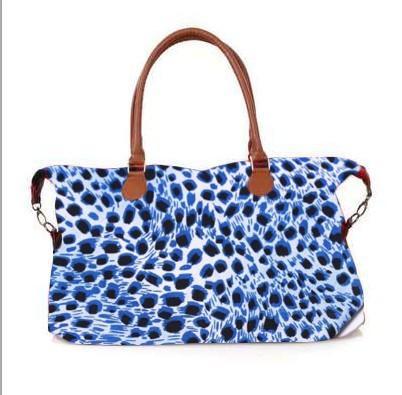 leopard print blue