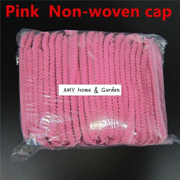Pink Non woven caps