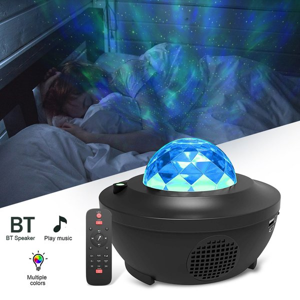 top popular 2021 New Colorful Starry Sky Projector Blueteeth Usb Voice Control Music Player Led Night Light Romantic Projection Birthday Gift Pqlj 2021