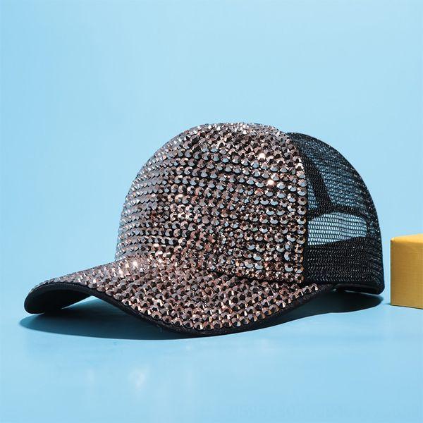 Black + Gold Diamond Net Cap