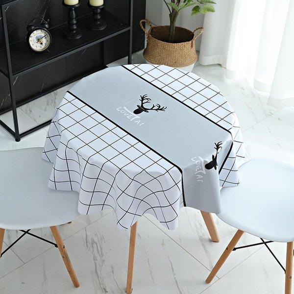 11Deer Plaid-White_90x90cm Square