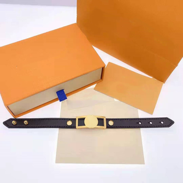 best selling Unisex Bracelet Fashion Belt Bracelets for Man Woman Jewelry Adjustable Bracelet Fashion Jewelry 4 Color with BOX
