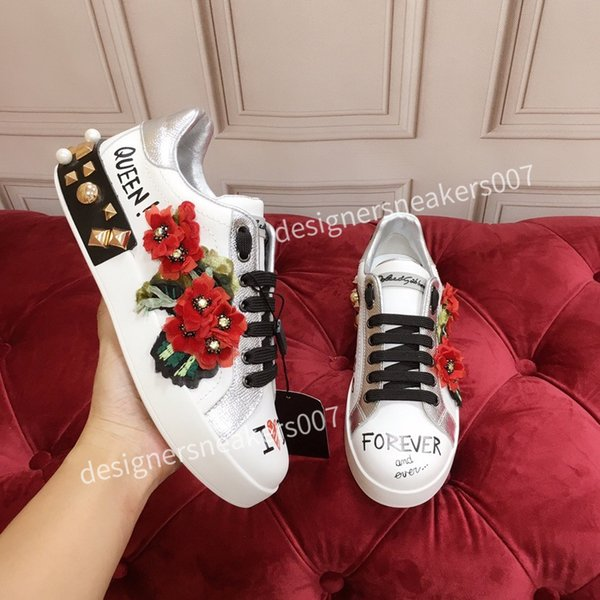 2021top Mans arrival Casual Shoes White Black Red Fashion Mens Women Leather Breathable Shoes Open Low sports Sneakers hc191009