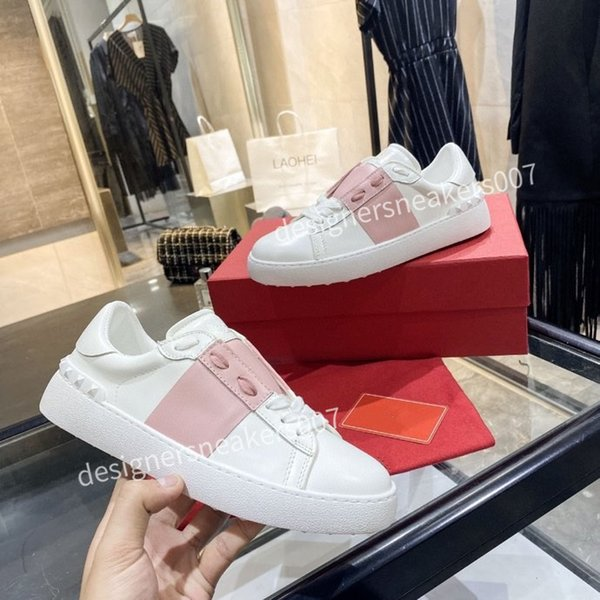 2021the Fashion Mens Women Leather Breathable Shoes Open Low sports Sneakers yh200906