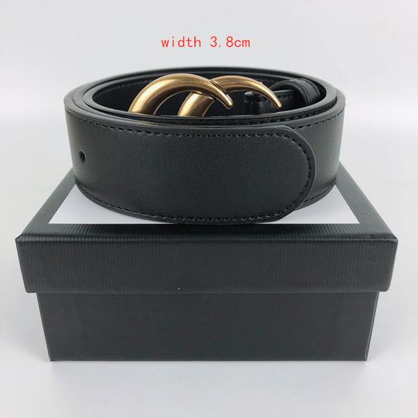 best selling Men Belt High Quality Belts for Men Genuine Leather Black Color Fashion Belt for Mens Belt Width 3.8cm,3.4cm,2.8cm,2.0cm With gift box