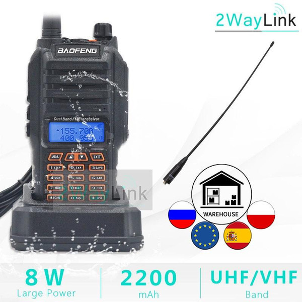 best selling 8W Baofeng UV-9R IP67 Waterproof Dual Band Ham Radio Walkie Talkie 10KM UV-9R Plus UV-XR UV 9R transceiver UHF VHF radio station