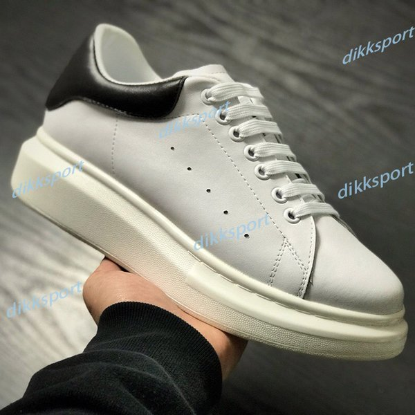 top popular Men Women Shoes Fashion Sneakers Black White Leather Trainers Suede Platform Shoes Mens Flat Casual Shoes 36-45 2021