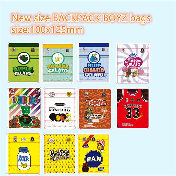 best selling Jokes up BACKPACK BOYZ smell proof 420 packaging PEMMEX Gummy runtz bags cookies 710 small size 100x125 mm mylar bags