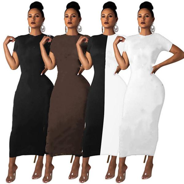top popular Women panelled sexy S-2XL mini dresses short sleeve night club dresses fashion crew neck casual clothing 2780 2021
