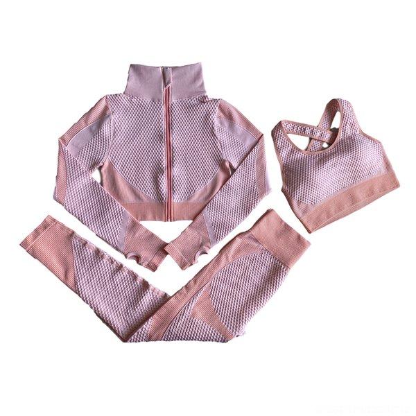 Three Piece Pink Orange Suit