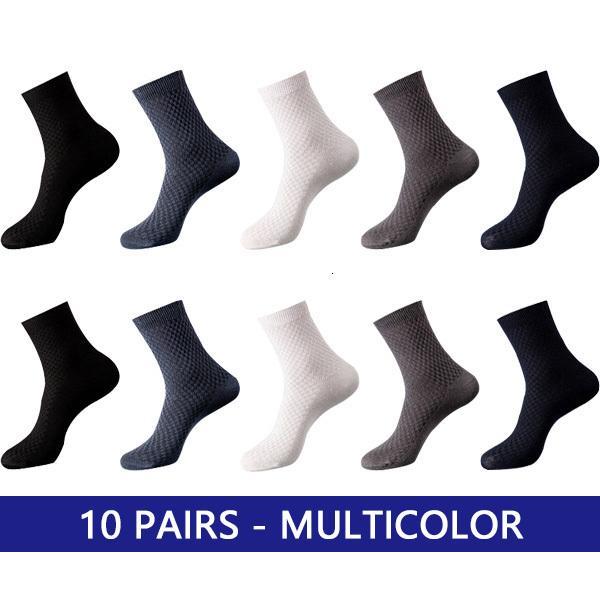 10 Paare multicolor.