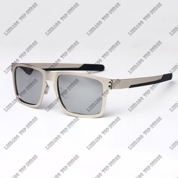 silver frame and lens