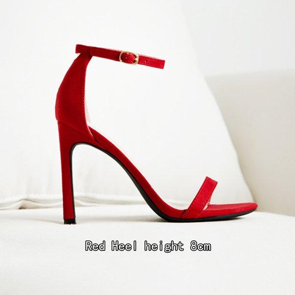 Süet Kırmızı 8cm