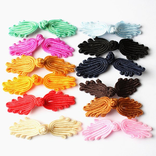 top popular 20pairs package Handmade Chinese Closures Sewing Button Knot Fastener Cheongsam Tang Suit Palm shape Buttons Clothing Accessoies 2021