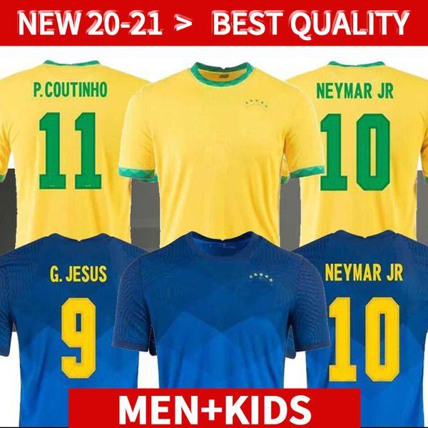 BRASIL NERES soccer jersey camiseta de futebol 2020 2021 G.JESUS COUTINHO 20 21 football shirt Men + Kids kit set uniforms