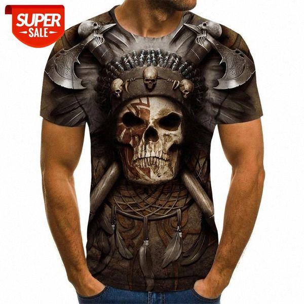 best selling Skull T shirt Men Skeleton T-shirt Punk Rock Tshirt Gun T shirts 3d Print T-shirt Vintage Men Clothing Summer tops Plus Size 6XL #IV1Z
