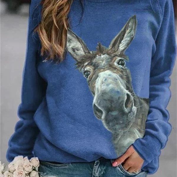 Blauer Esel