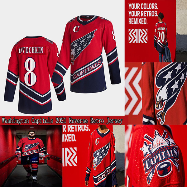 top popular Washington Capitals 2021 Reverse Retro Jersey 8 Alex Ovechkin Henrik Lundqvist Nickla Backstrom Tom Wilson Braden Holtby John Carlson 2021