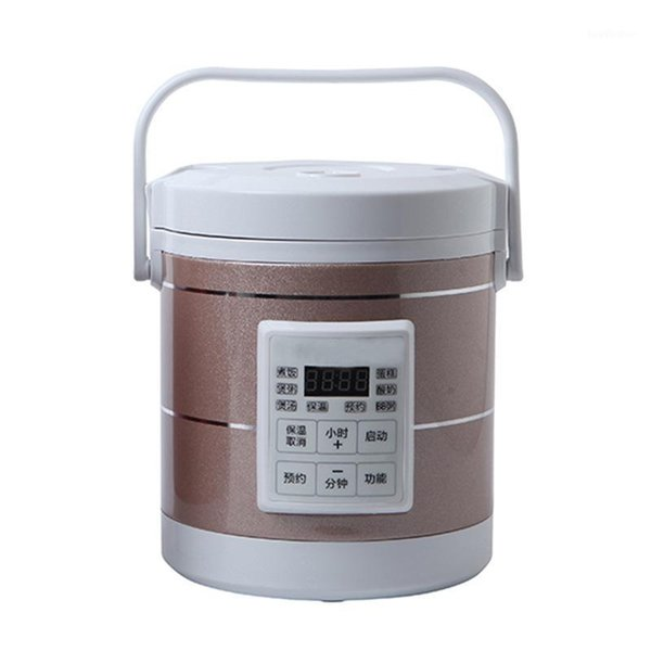 top popular 220V mini rice cooker soup porridge cooking machine steamer electric heating lunch box heater1 2021