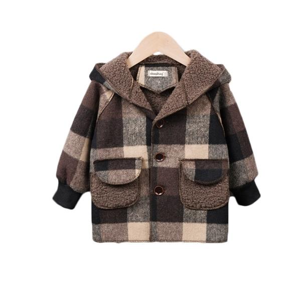 top popular New Autumn Winter Children Thicken Clothes Baby Boys Girls Cotton Hooded Jacket Kids Toddler Fashion Coat Infant Casual Costume Q1123 2020