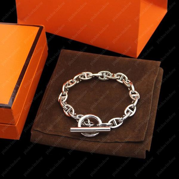 top popular Chains Mens Bracelets Chain women Designers Bracelet messika Jewelry Bijoux De Créateurs De Luxe Femmes Bracelets Pour Hommes new 20121701L 2021