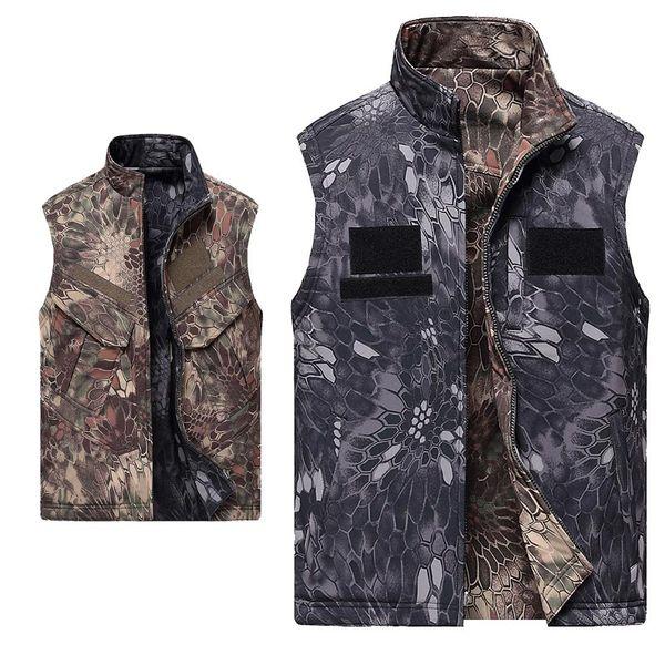 top popular Outdoor Hunting Shooting Tactical Camo Coat Combat Clothing Camouflage Windbreaker Softshell Jacket Softshell Outdoor Vest P05-211 2021