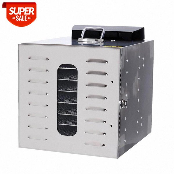 best selling 8 Trays Food Dehydrator Snacks Dehydration Dryer Fruit Vegetable Herb Meat Drying Machine Stainless Steel Food Dryer #RC8E