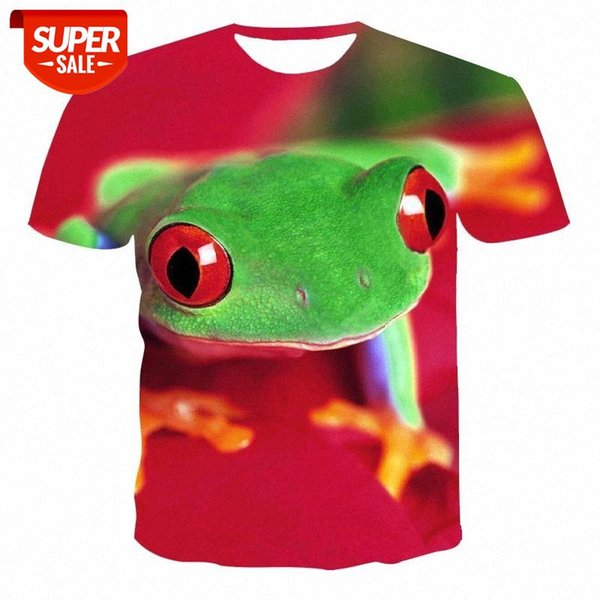 top popular New men's frog T-shirt fashion new summer men's short-sleeved T-shirt casual 3D poison frog print breathable male Comple #n66I 2021