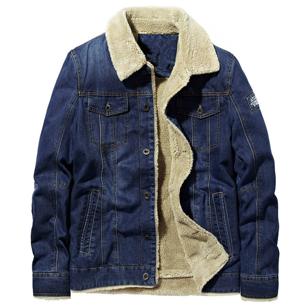 Men denim Jacket casual coat Padded and Thickened Cotton Jacket online fashion famous bomber Slim windbreaker Mens jean clothing for sale We have the best factory and can provide excellent service and quality, looking forward to your inquiry and purchase.We will ship it first.