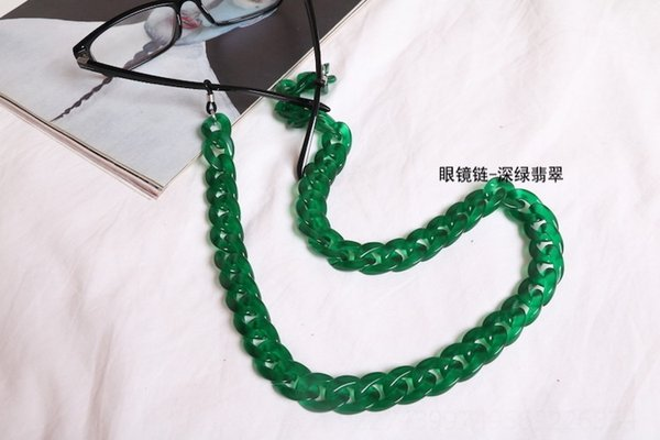 Corrente de óculos - escuridão verde jade