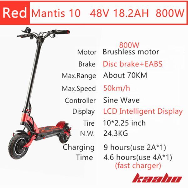 M10 48V 800W Red
