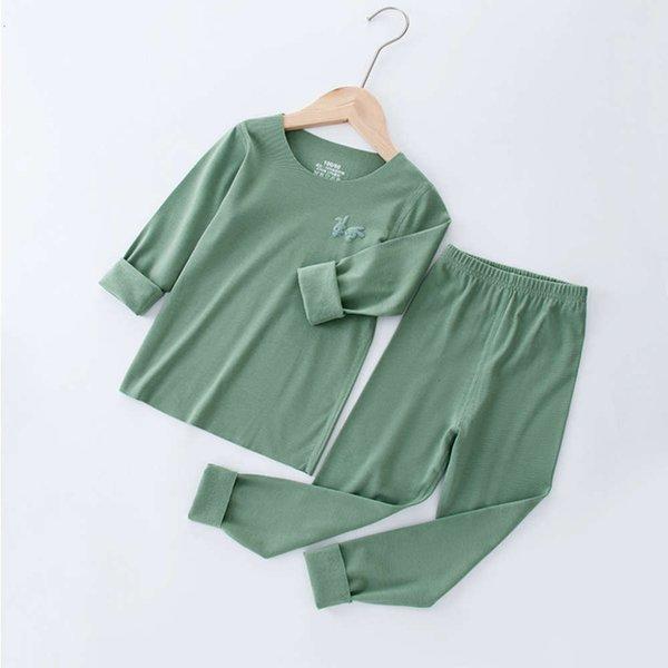 Vestito di velluto morbido Matcha Green