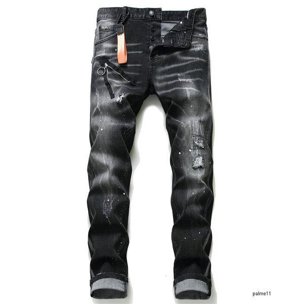 top popular mens designer jeans black luxury ripped skinny biker moto pants pour cool hommes men s hip hop denim rock new arrival 2021
