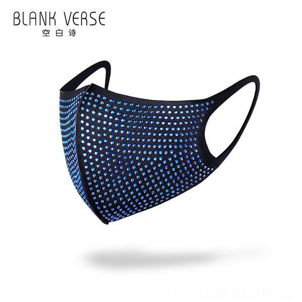 Diamante azul com background preto # 50393