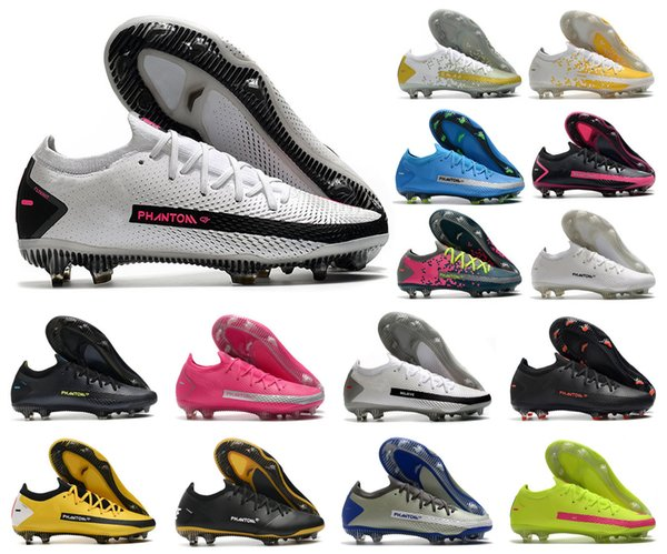 best selling New 2020 Hot Mens Phantom GT Elite FG Boys Soccer Football Shoes Boots Cleats Size 39-45