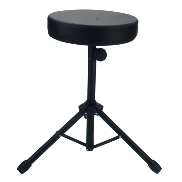 best selling New Drum Stool Non-adjustable Drum Chair Black Round Seat Rotatable Ion Band Performance Drum Stool Chair