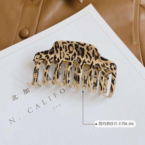 Clip d'impression léopard simple