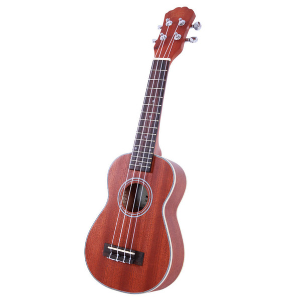 top popular 21 inch Exquisite Matte Soprano Ukulele with Rosewood Fingerboard Natural Color Glarry UK203 Ship from USA 2021