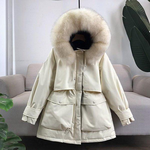 Beige Real Fur