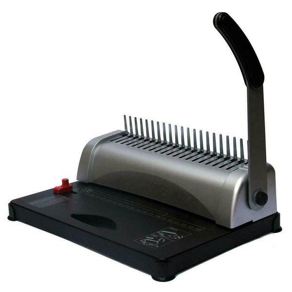 top popular 21 Hole 450 Sheets Paper Comb Punch Binder Binding Machine Filing Storage Tool 2021