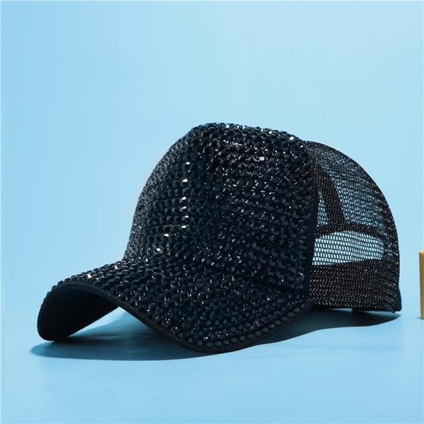 Black + Black Diamond Net Cap