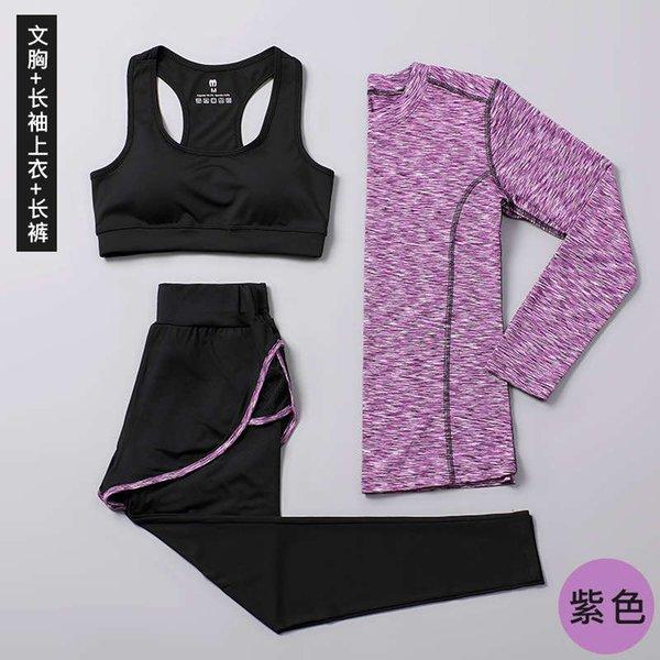 Фиолетовый с длинным рукавом + жилет + капри