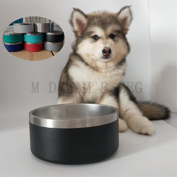 best selling Dog Bowls 32OZ Stainless Steel Non-Slip Pet Dishes Bowls 8 Colors Tumblers Double Wall Vacuum Insulated Large Dog Bowl Mugs