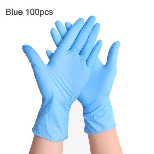 Blau 100pcs-L