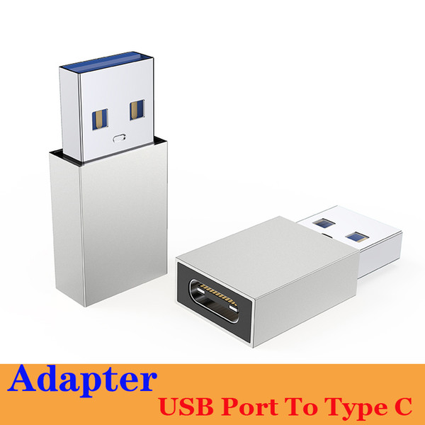 top popular Newest USB Male To USB3.1 (Type-C) Connector Converter Adapter USB 3.1 Type C for iPhone 12 mini pro max High quality with PE bag packing 2021