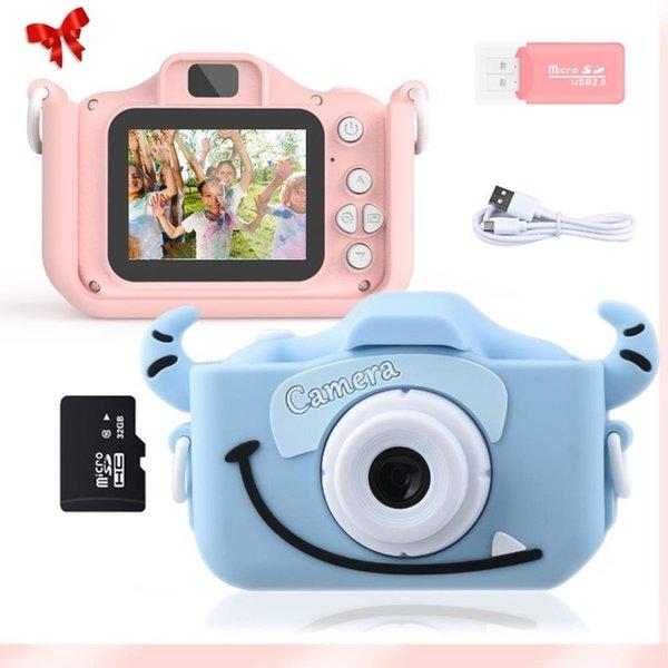 Consumer Electronics Kid Camera 1080P HD mit 32G Karte 2,0 Zoll Farbbildschirm Dual Selfie Videospiel Kinder Digitalkamera Spielzeug Geschenke