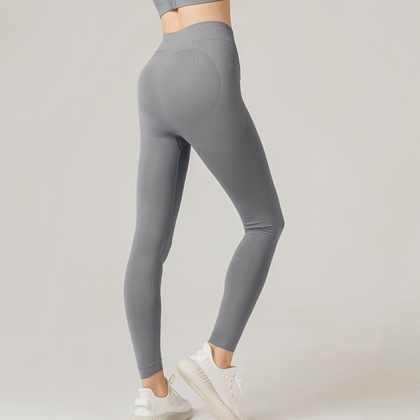 best selling New Nude Yoga Pants Women's Solid Color Tight Elastic Thin Hip Lifting Leggings Fast Dry Running Fitness Pants