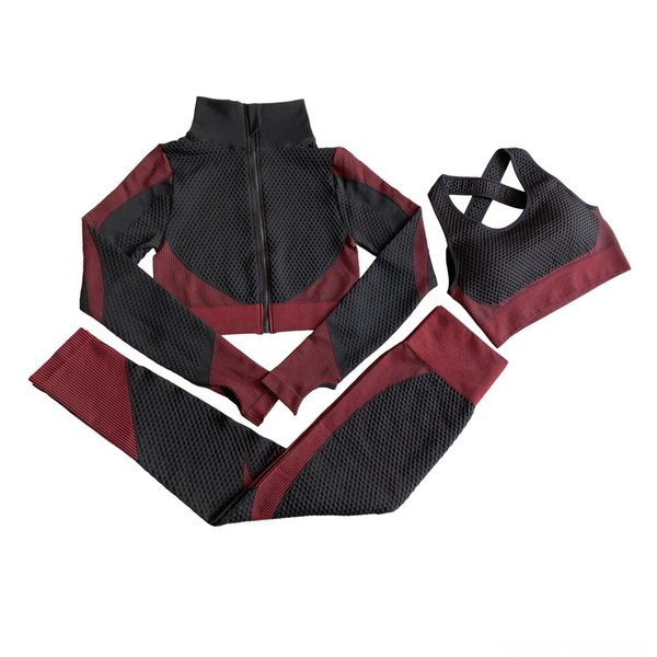 Three Piece Black And Red Suit