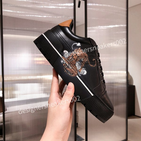 top Womans Cheap Best Quality Speed Trainer Black Walking Sneakers Men Women Black Red Casual Shoes Fashion Paris Sneakers qqxc201016